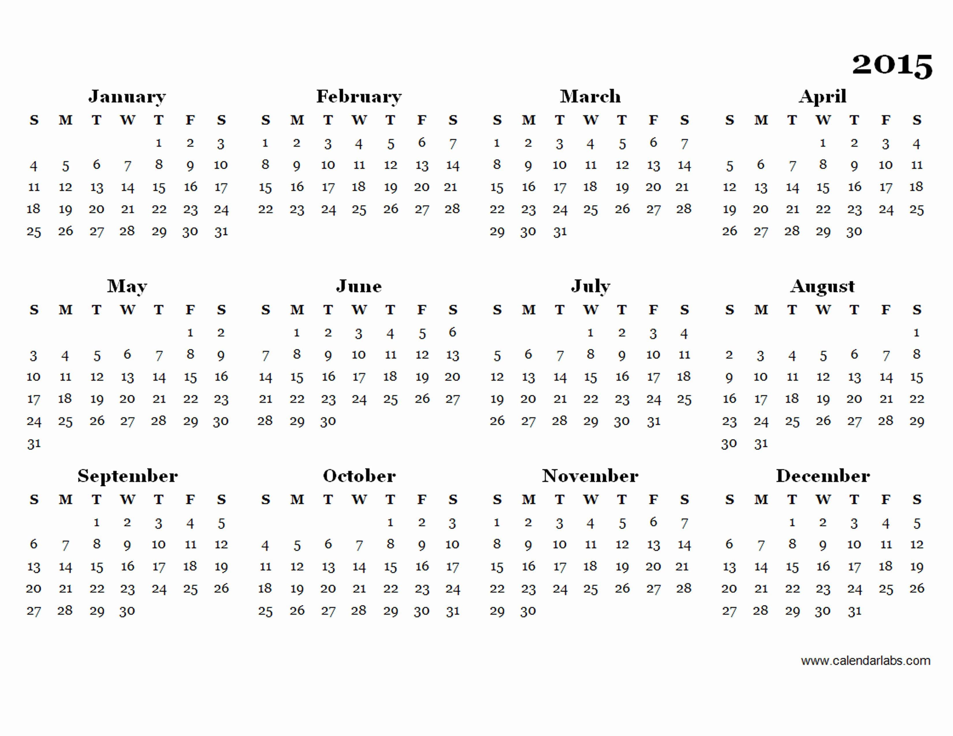 Free Yearly Calendar Templates 2015 Beautiful 2015 Yearly Calendar Template 08 Free Printable Templates