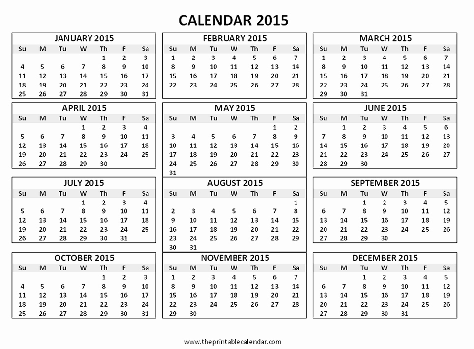 Free Yearly Calendar Templates 2015 Best Of 12 Months Calendar 2015 Printable 2016 Calendar 3 Months