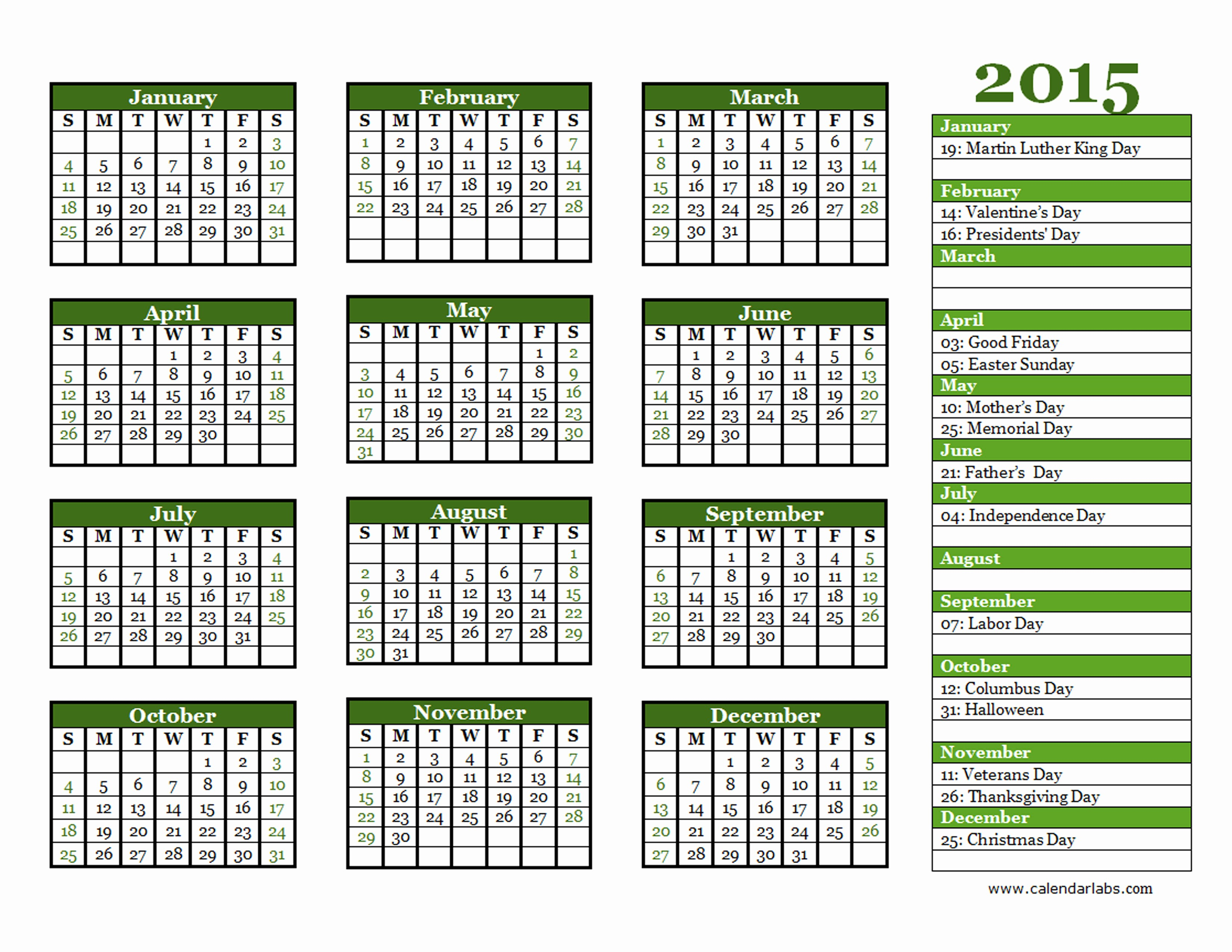 Free Yearly Calendar Templates 2015 Elegant 2015 Yearly Calendar Template 06 Free Printable Templates