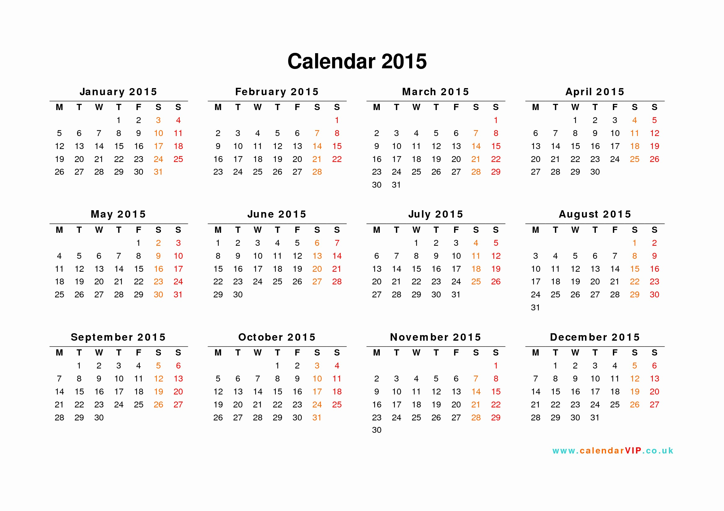 Free Yearly Calendar Templates 2015 Elegant Calendar 2015 Uk Free Yearly Calendar Templates for Uk