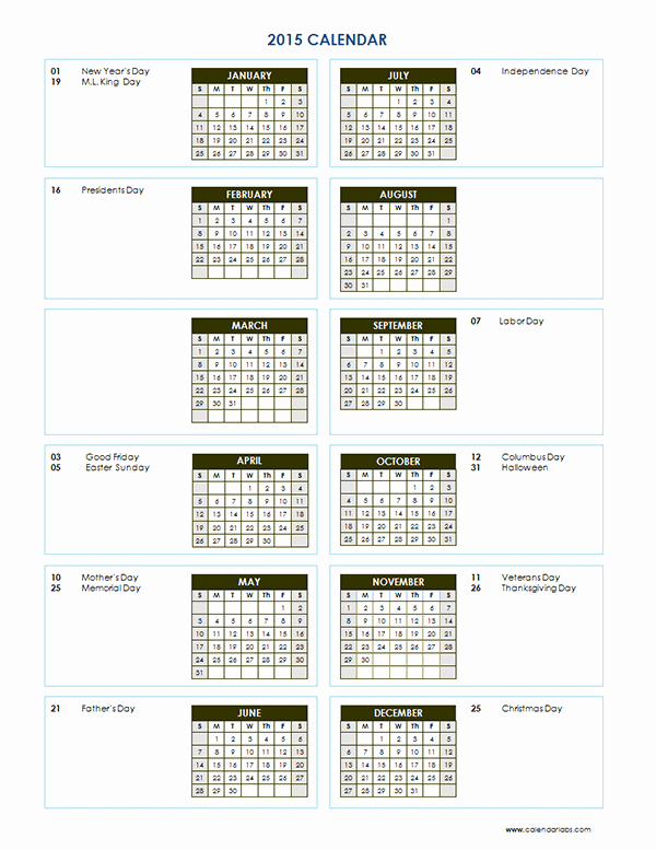 Free Yearly Calendar Templates 2015 Fresh 2015 Yearly Calendar Template 04 Free Printable Templates