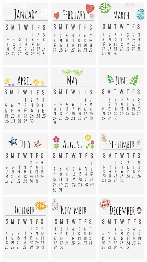 Free Yearly Calendar Templates 2015 Inspirational Small Printable Calendars Aztec Line