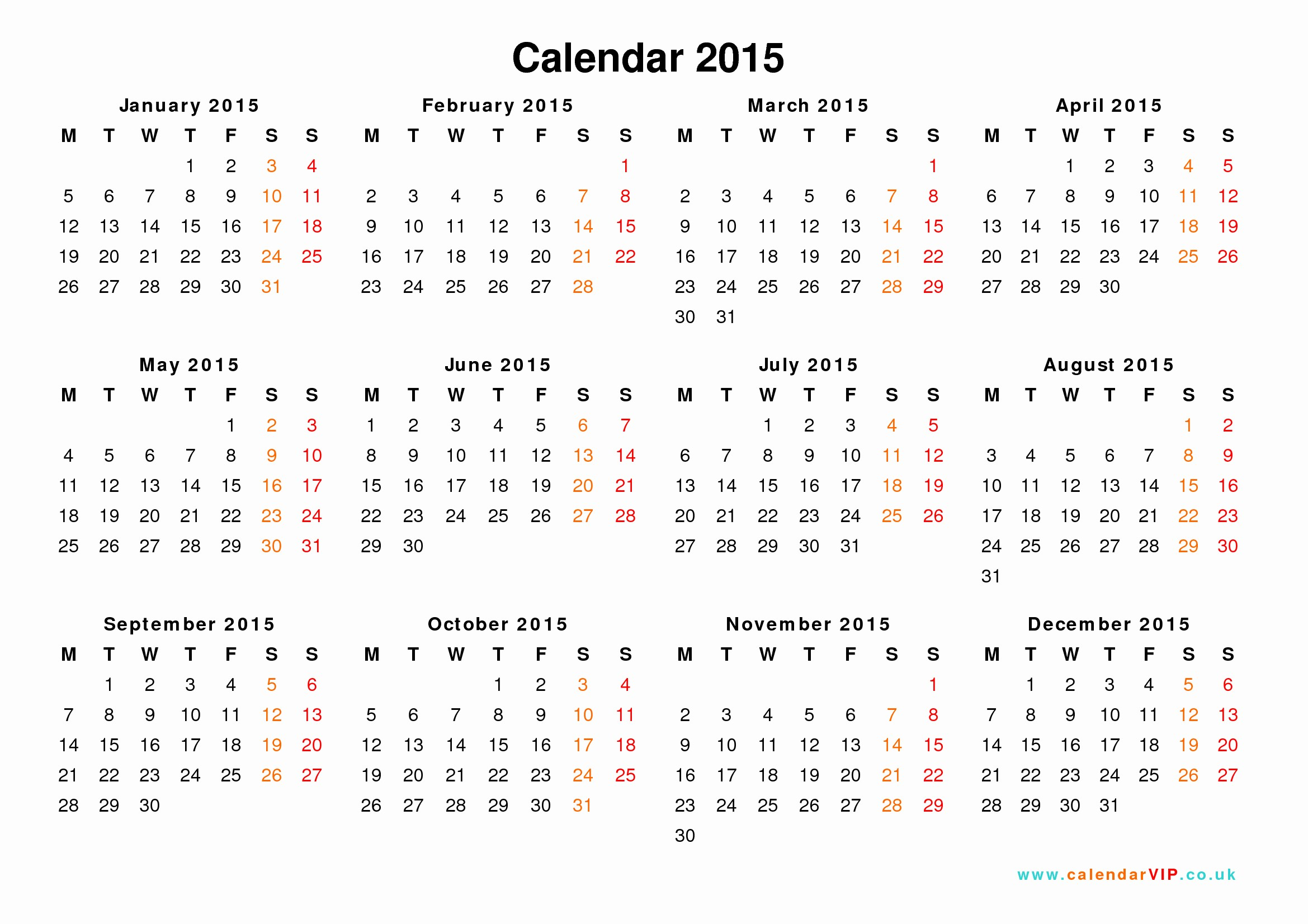 Free Yearly Calendar Templates 2015 Lovely Calendar 2015 Uk Free Yearly Calendar Templates for Uk