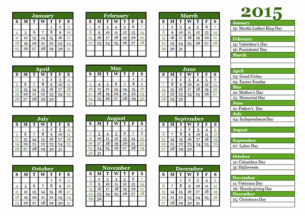 Free Yearly Calendar Templates 2015 Luxury 2015 Yearly Calendar Template 06 Free Printable Templates