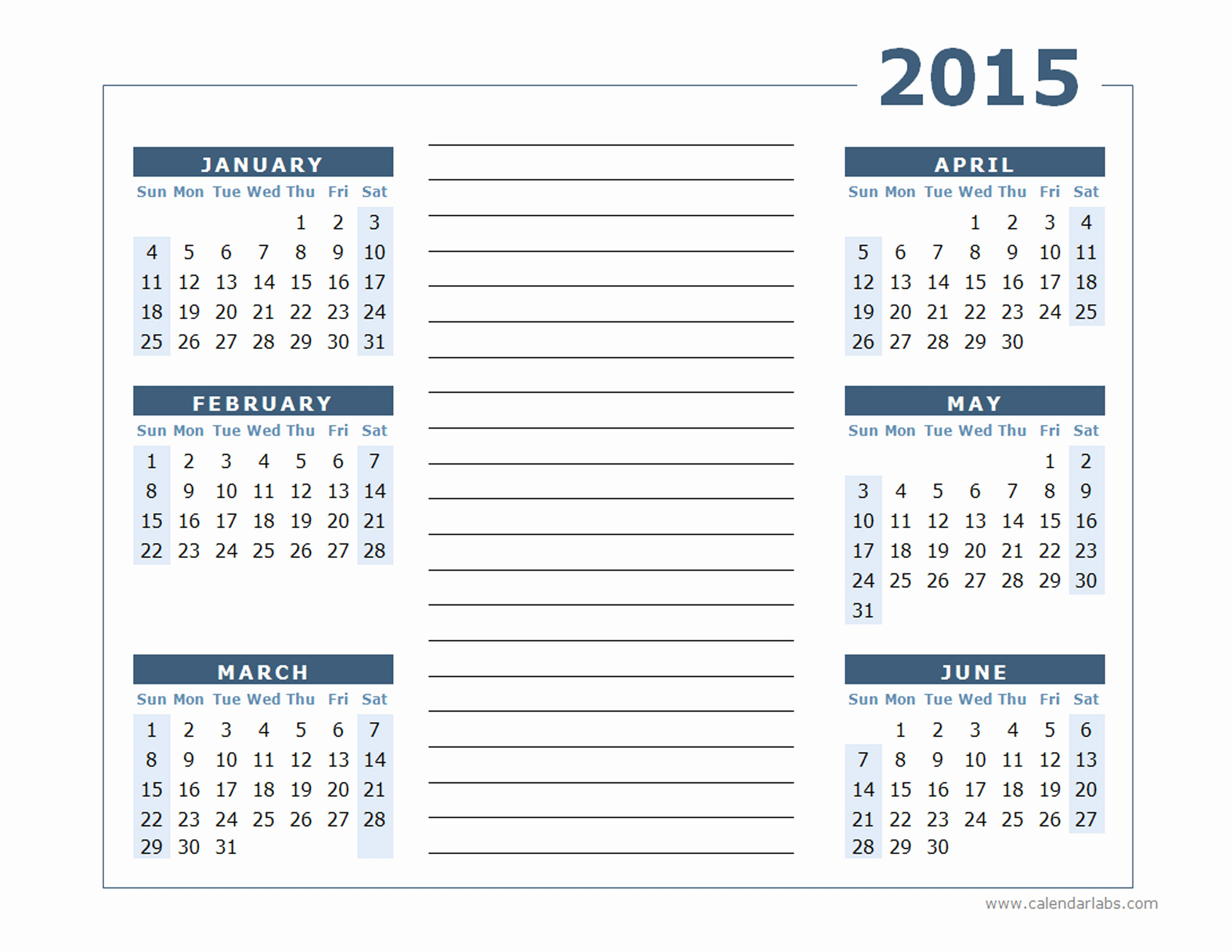 Free Yearly Calendar Templates 2015 Luxury 2015 Yearly Calendar Two Page Free Printable Templates