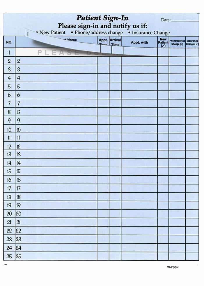 Front Desk Sign In Sheet Lovely Best S Of Front Fice Sign In Sheets Medical