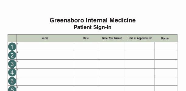 Front Desk Sign In Sheet New Medical Fice Supplies