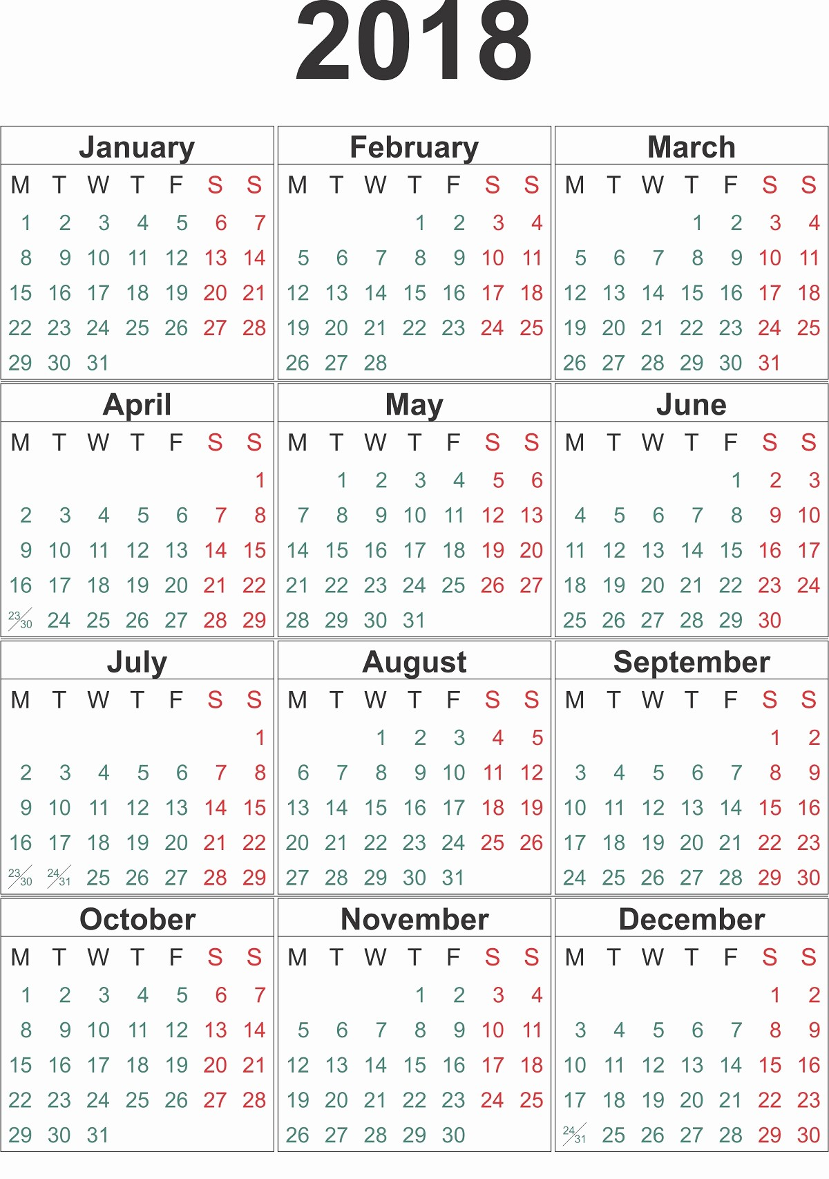 Full Year Calendar 2017 Printable Awesome 2018 Printable Calendar Year Free