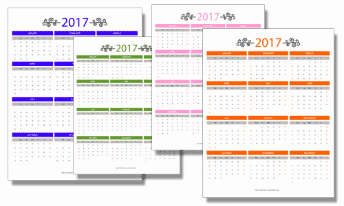 Full Year Calendar 2017 Printable New 2017 Free Printable Calendars Free Printable Calendars