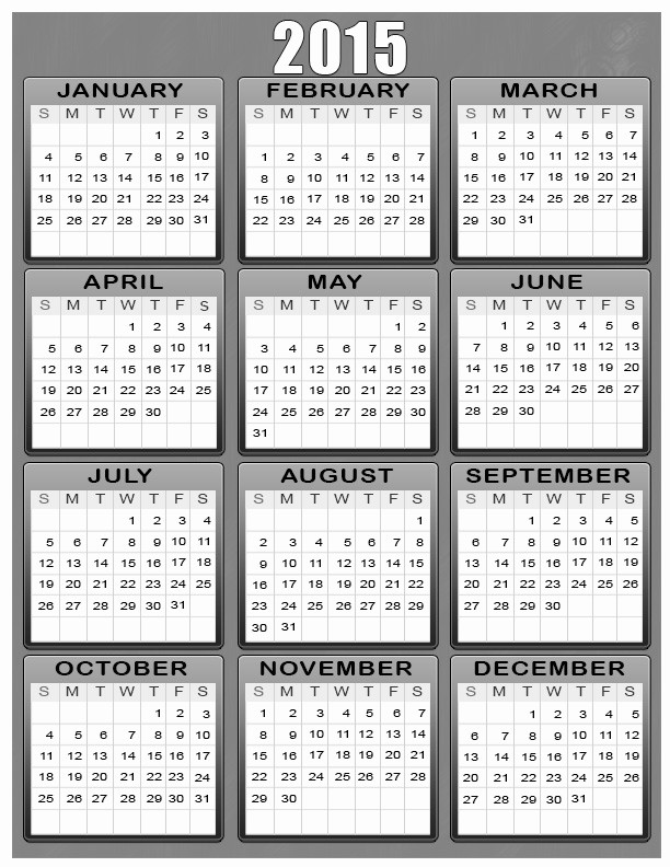 Full Year Calendar Template 2015 Awesome Calendars 2015 Printable Search Results