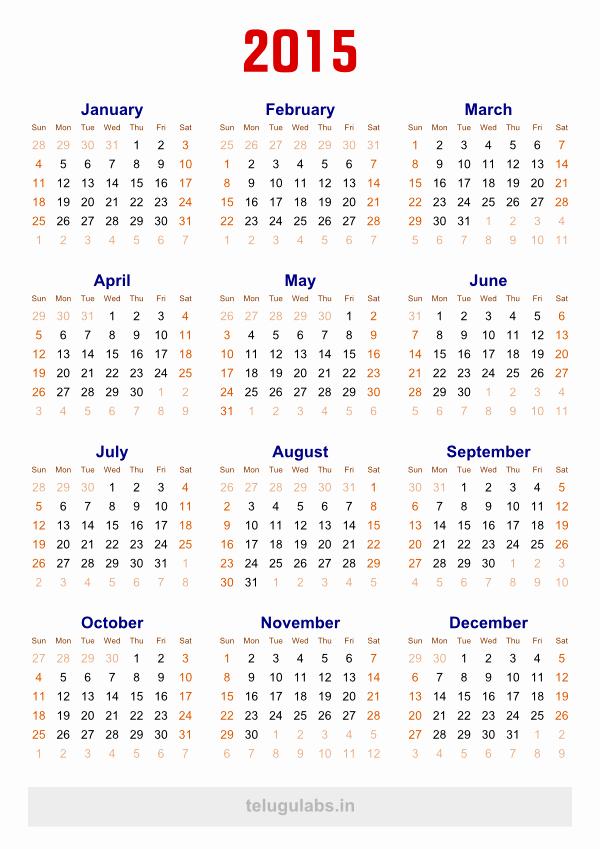 Full Year Calendar Template 2015 Beautiful 12 2015 Yearly Calendar Template 2015 Calendar