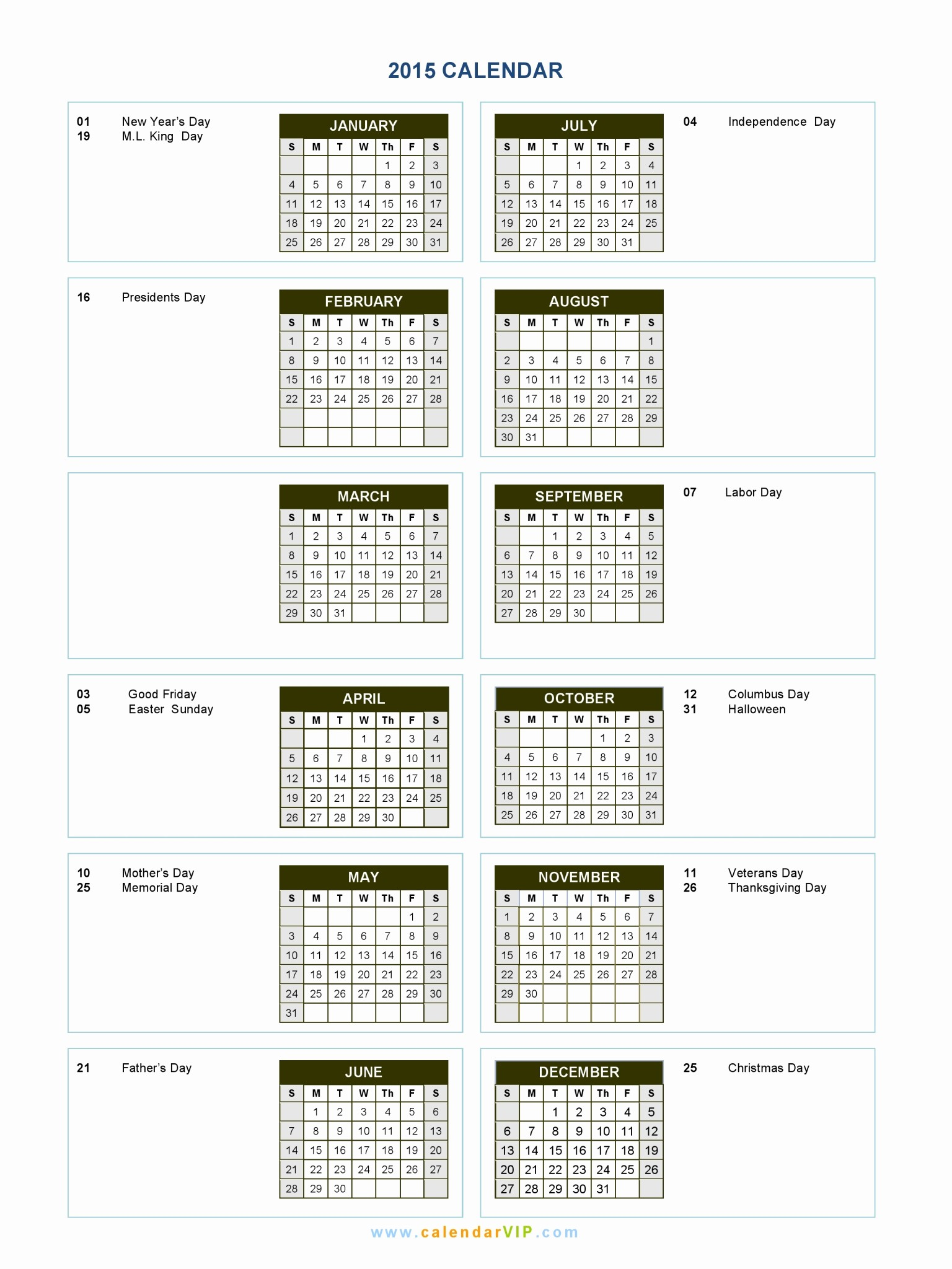 Full Year Calendar Template 2015 Inspirational 2015 Calendar Blank Printable Calendar Template In Pdf