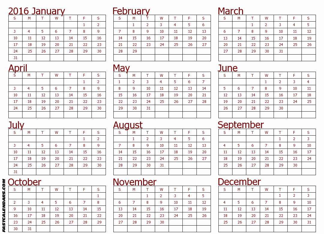"""Full Year Calendar Template 2015 New Search Results for """"full Size Blank Printable Calendar"""