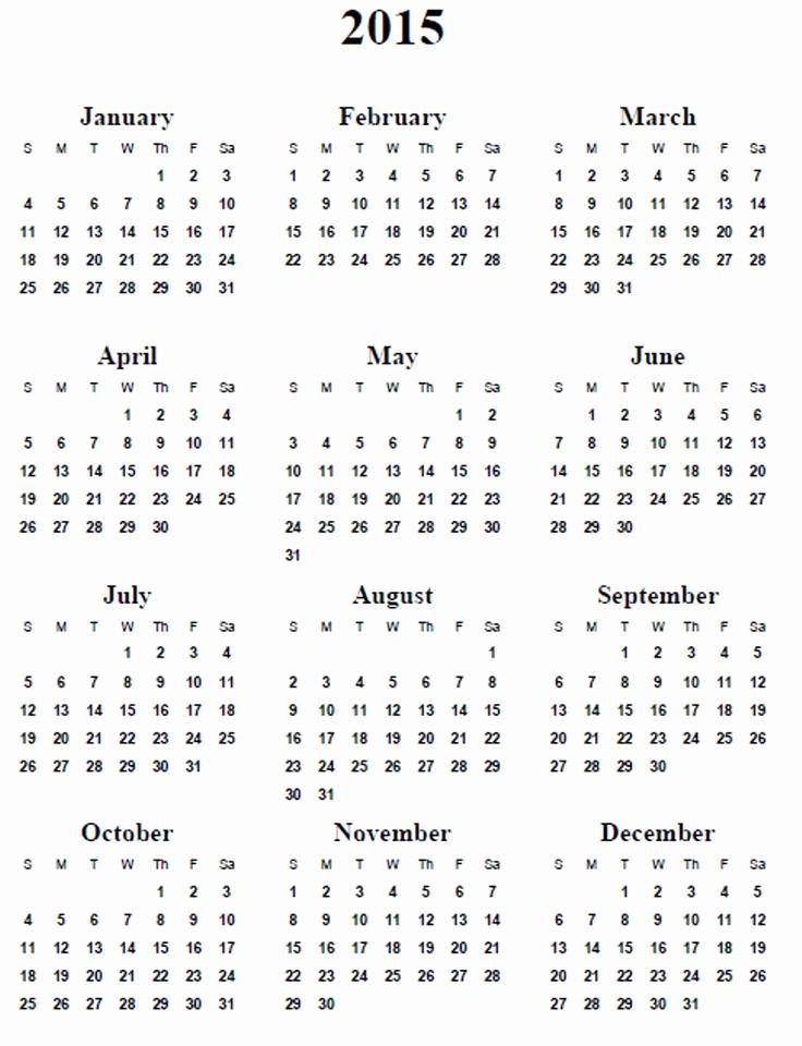 Full Year Calendar Template 2015 Unique 25 Best Ideas About Calendar Templates On Pinterest