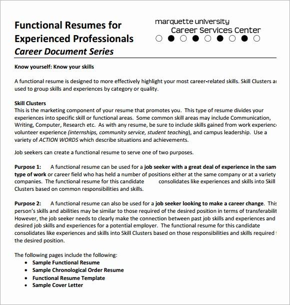 Functional Resume Templates Free Download Elegant 10 Functional Cv Samples