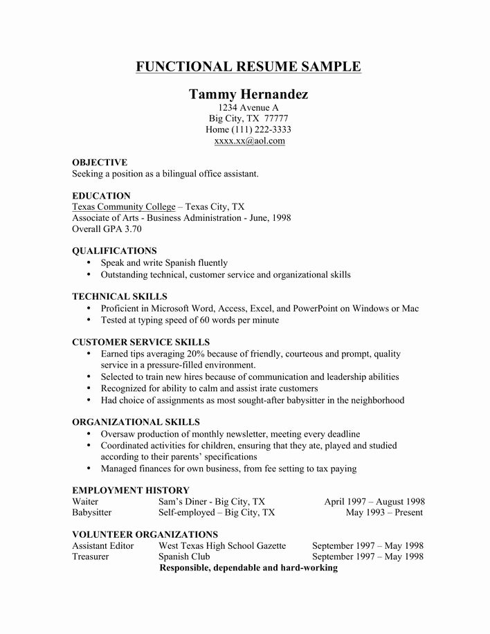 Functional Resume Templates Free Download Fresh Download Sample Functional Resume Template Free Download