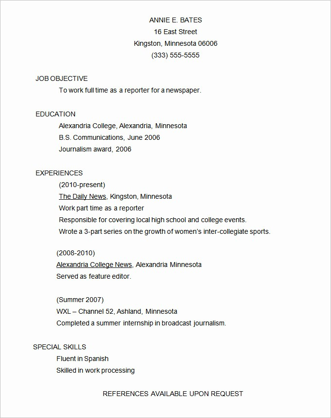 Functional Resume Templates Free Download Fresh Functional Resume Template – 15 Free Samples Examples