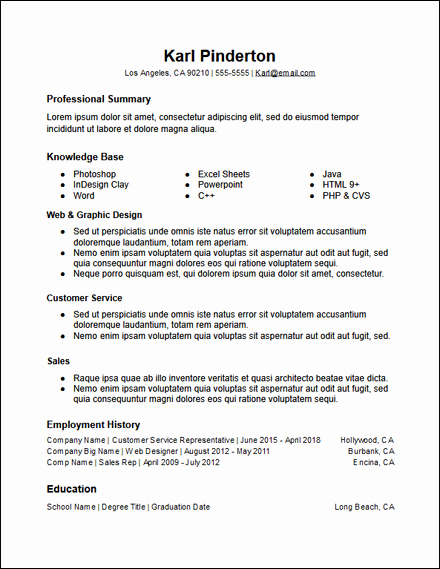 Functional Resume Templates Free Download Lovely Free Resume Templates Hirepowers
