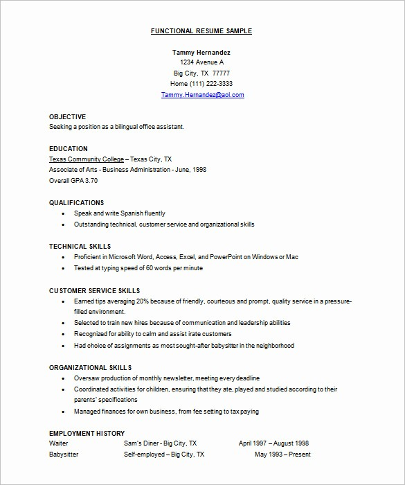 Functional Resume Templates Free Download Luxury Resume Template – 92 Free Word Excel Pdf Psd format