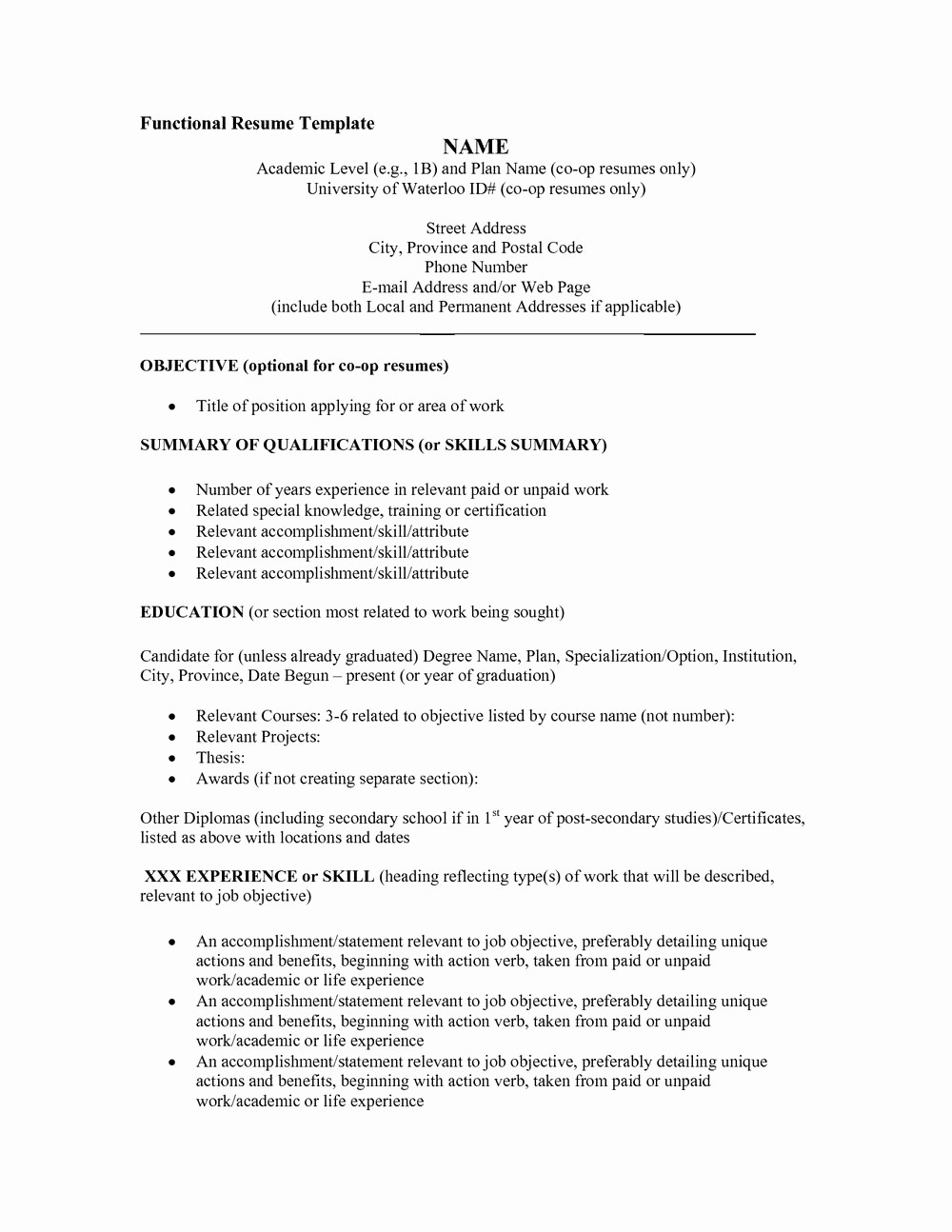Functional Resume Templates Free Download New Functional Resume Template Free Download Resumes 297