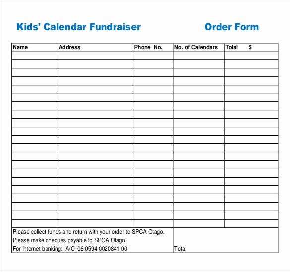 Fundraiser order form Template Excel Awesome 16 Fundraiser order Templates – Free Sample Example