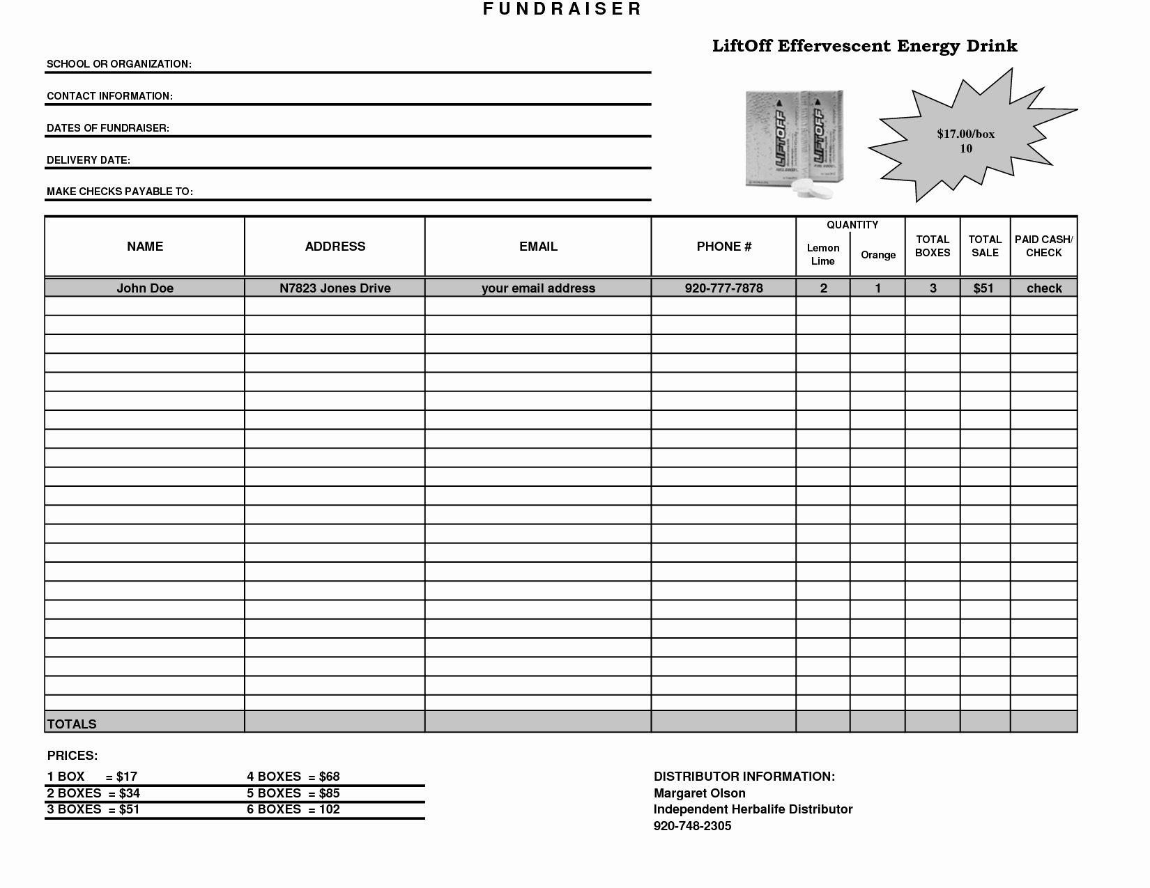 Fundraiser order form Template Excel Beautiful Fundraiser Template Excel Fundraiser order form Template