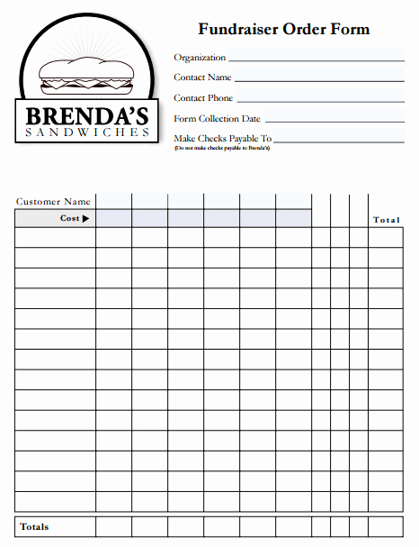 Fundraiser order form Template Excel Elegant 6 Fundraiser order form Templates Website Wordpress Blog