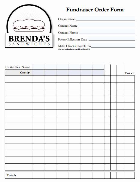 Fundraiser order form Template Excel Elegant 6 Fundraiser order form Templates Website Wordpress Blog