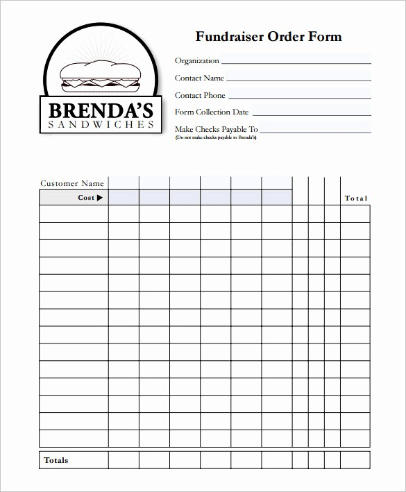 Fundraiser order form Template Excel Inspirational 29 order form Templates Pdf Doc Excel