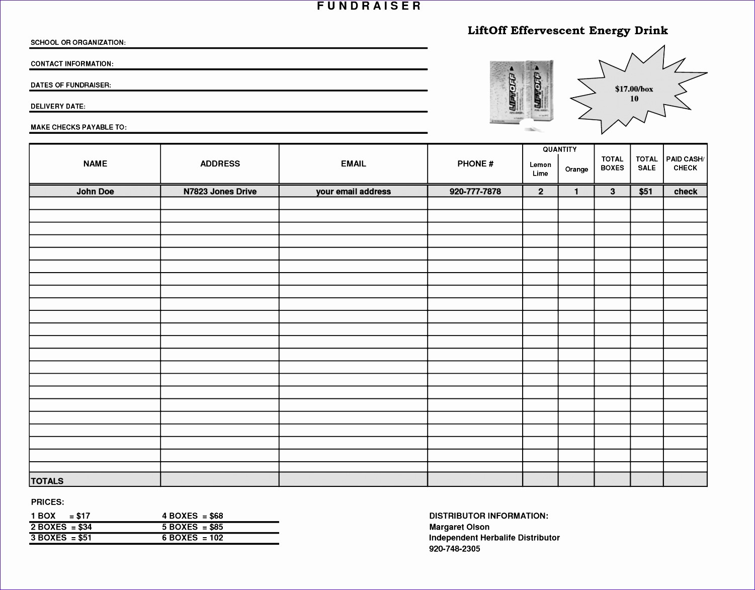 Fundraiser order form Template Excel New 10 Making A Template In Excel Exceltemplates