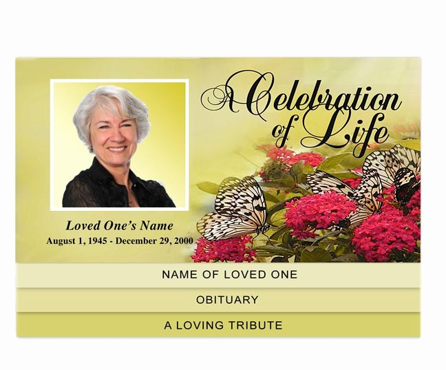 Funeral Program Template Word 2010 Awesome 30 Best Images About Creative Memorials Graduated Style