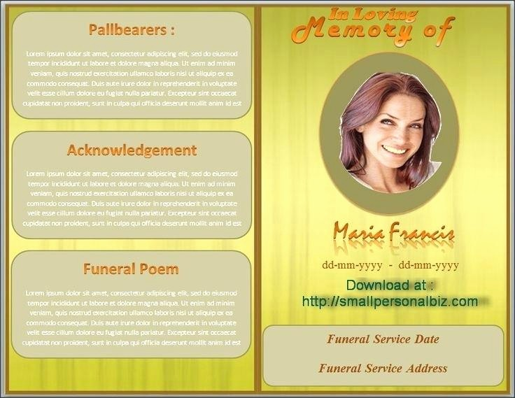 Funeral Program Template Word 2010 Awesome Free Funeral Program Template Microsoft Word 2013