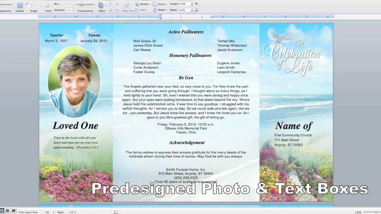 Funeral Program Template Word 2010 Beautiful Beautiful Free Funeral Program Template Microsoft Word