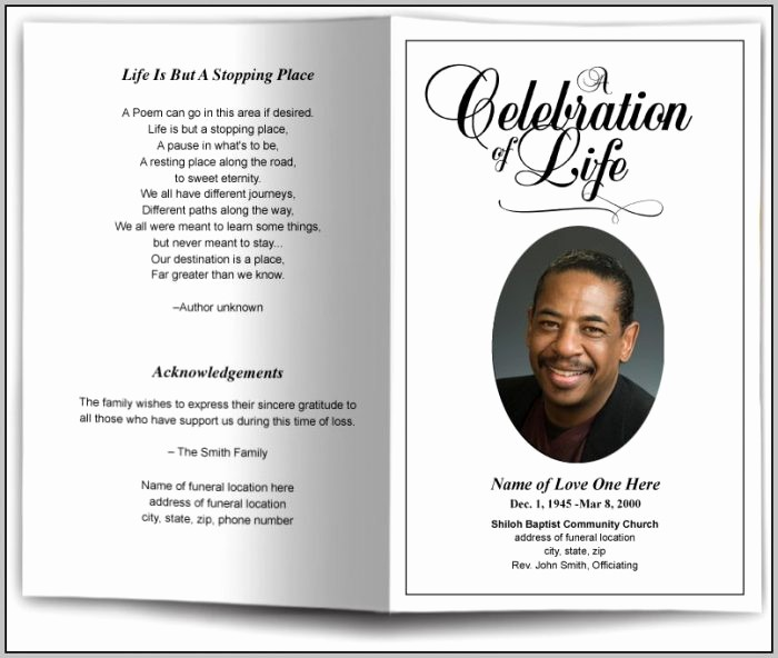 Funeral Program Template Word 2010 Beautiful Free Funeral Service Program Template Download Template