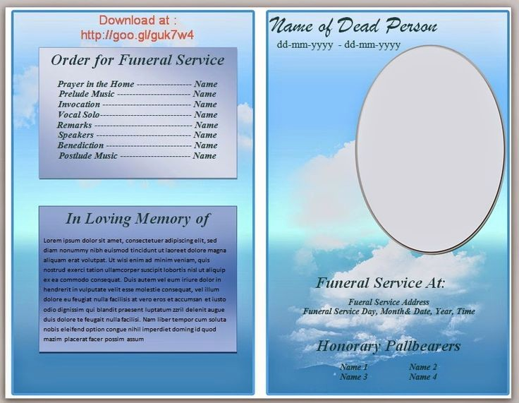 Funeral Program Template Word 2010 Best Of 79 Best Funeral Program Templates for Ms Word to Download