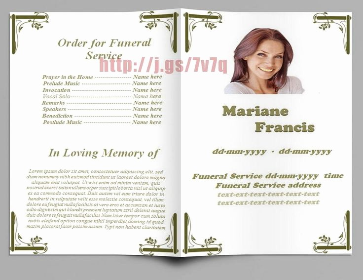 Funeral Program Template Word 2010 Elegant 79 Best Images About Funeral Program Templates for Ms Word