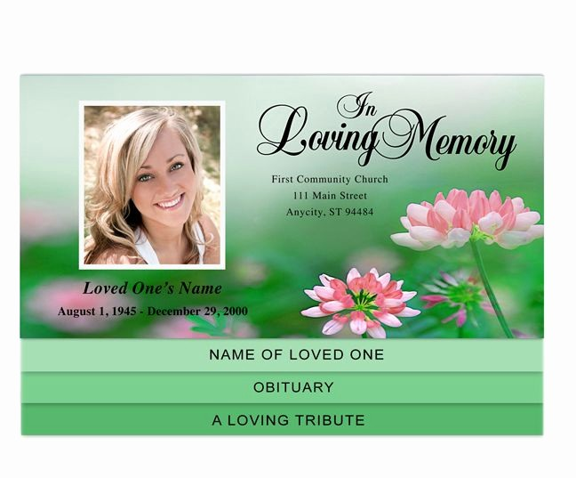 Funeral Program Template Word 2010 Fresh 30 Best Images About Creative Memorials Graduated Style