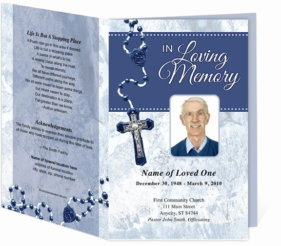 Funeral Program Template Word 2010 Fresh Crucifix Funeral Program Template 3 Colors