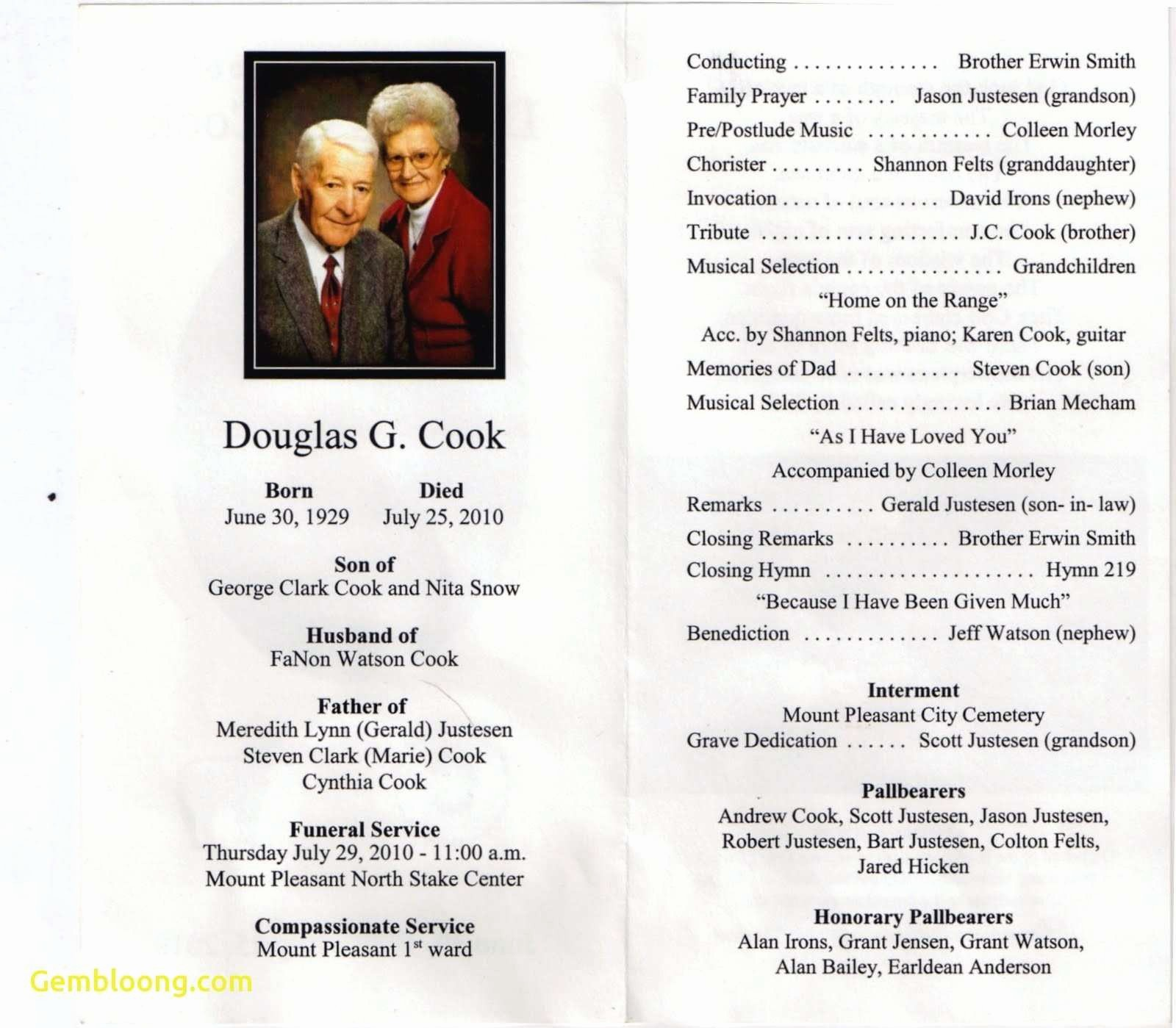 Funeral Program Template Word 2010 Fresh Elegant Memorial Service Program Template Microsoft Word