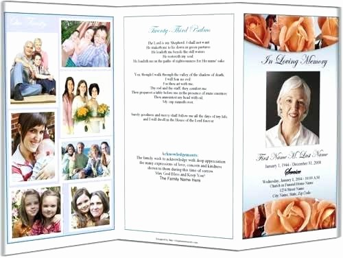 Funeral Program Template Word 2010 Fresh Funeral Memorial Service Program Template Sample Obituary