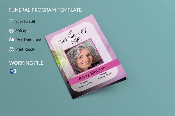 Funeral Program Template Word 2010 Fresh Funeral Program Template Memorial Program Obituary
