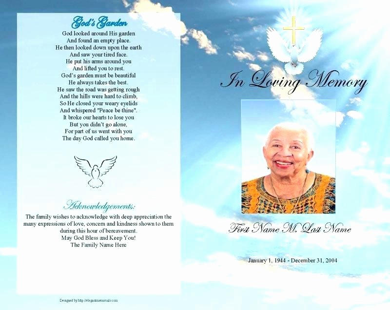 Funeral Program Template Word 2010 Inspirational Free Template for Funeral Program Funeral Free Printable