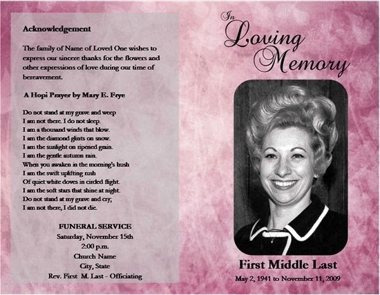 Funeral Program Template Word 2010 Inspirational Loved E Passed Free Microsoft Fice Funeral Service or