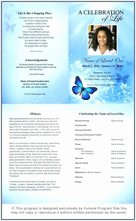 Funeral Program Template Word 2010 Inspirational Microsoft Fice Word Funeral Program Template 7 8 Free