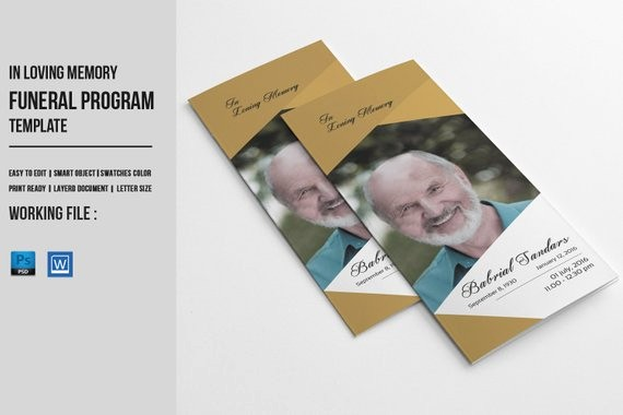 Funeral Program Template Word 2010 Inspirational Trifold Funeral Program Template Memorial Obituary Service