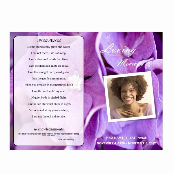 Funeral Program Template Word 2010 Lovely Floral 1 Funeral Pamphlets