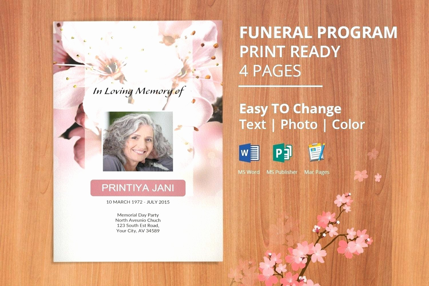 Funeral Program Template Word 2010 Lovely Funeral Programs Template Microsoft Word