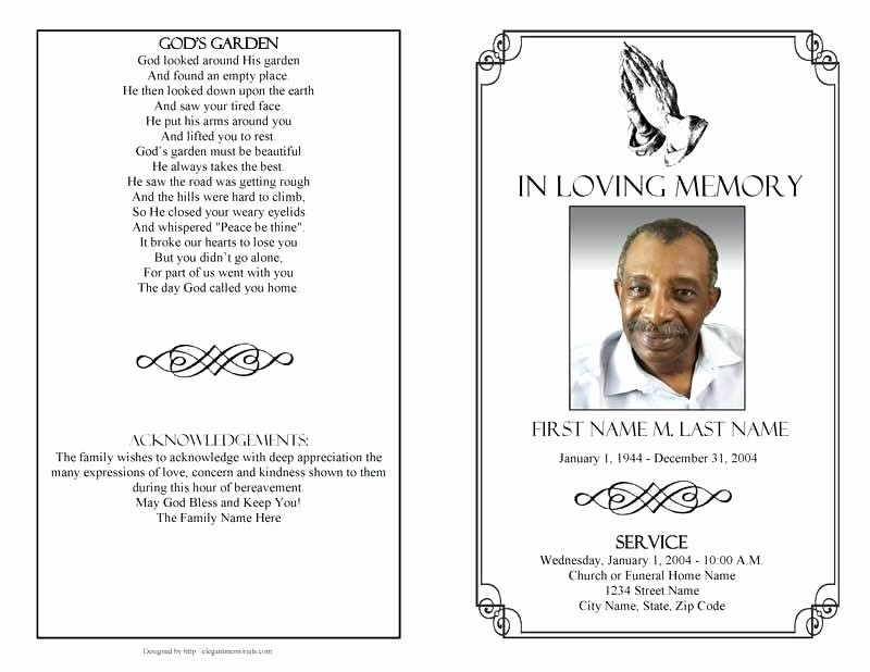 Funeral Program Template Word 2010 Luxury Memorial Program Template – Helenamontanafo