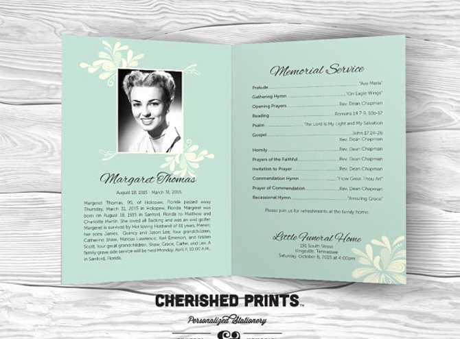 Funeral Program Template Word 2010 New Free Editable Funeral Program Template Free Download