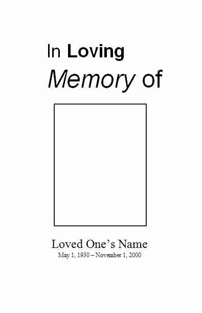 Funeral Program Template Word 2010 New Funeral Card Template Microsoft Word Memorial Programs and